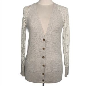 Mossimo Oat Lace Cardigan Small
